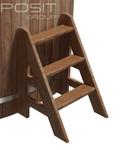 Трехступенчатая лестница к купели PolarSpa термососна