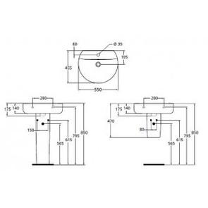 Раковина подвесная Ideal Standard Connect Sphere E786401
