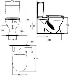 Унитаз напольный Ideal Standard EUROVIT+ V337001