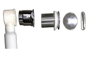 Слив-перелив для ванны BelBagno арт. BB39-OVF-CRM, хром