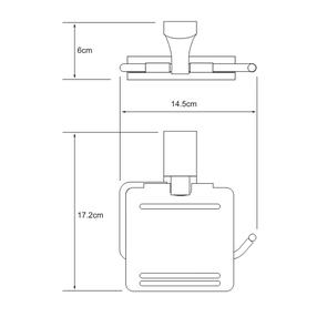 Держатель туалетной бумаги с крышкой Wasser Kraft К-5025