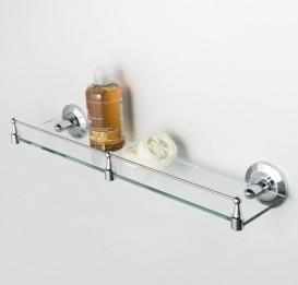 Полка стеклянная с бортиком Wasser Kraft K-6244