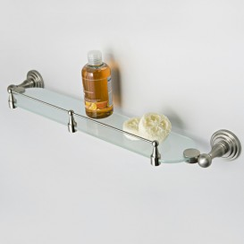 Полка стеклянная с бортиком Wasser Kraft К-7024