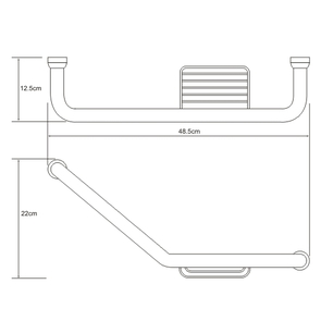 Поручень для ванны с мыльницей Wasser Kraft K-1077