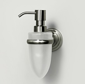Дозатор для жидкого мыла стеклянный, 160 ml Wasser Kraft К-7099