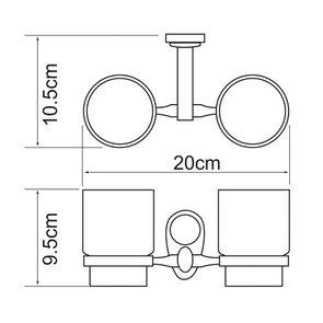 Подстаканник двойной керамика Wasser Kraft K-9228D