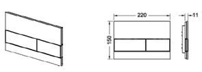 Панель смыва TECEsquare БЕЛОЕ стекло с двумя клавишами 92408