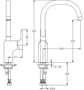 Смеситель для кухни Jacob Delafon Singulier E10877-CP