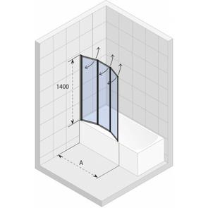 Шторка на ванну Riho Alta VZ