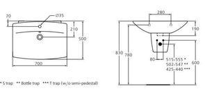 Раковина подвесная Ideal Standard CANTICA T087761