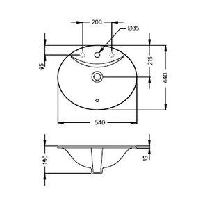 Раковина встраиваемая  Ideal Standard OCEANE W306301