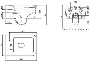 Унитаз подвесной OXO CS6029