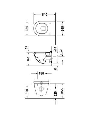 Унитаз подвесной DURAVIT STARCK 3 2200090000