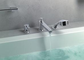 Смеситель врезной на борт ванны Kludi Zenta 384470575