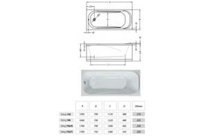 Ванна акриловая Kolpa-san STRING 190х90 Basis