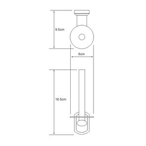 Держатель туалетной бумаги вертикальный Wasser Kraft K-3097