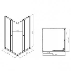 Душевой уголок IFO Silver квадратный 90*90 стекло матовое RP5290214003