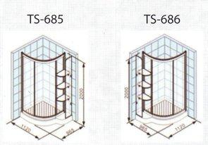 Душевое ограждение APPOLLO TS-685/686