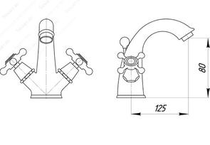 Смеситель для раковины Migliore Beatrice ML.BTC-134BR