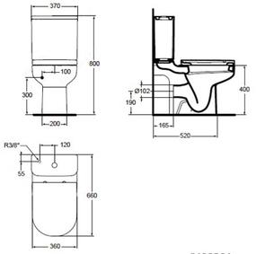 Унитаз напольный Ideal Standard PLAYA J492401