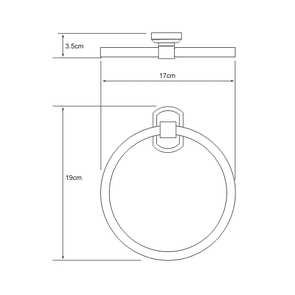 Держатель полотенец кольцо Wasser Kraft K-3060