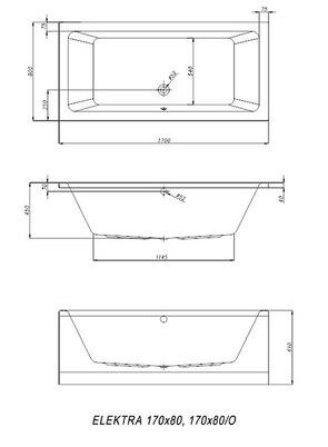 Ванна акриловая Kolpa-san ELEKTRA Basis