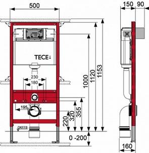 Инсталляция для подвесного унитаза TECEprofil 9300000