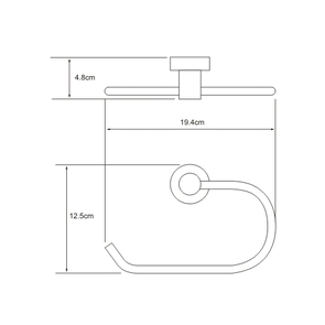 Держатель полотенец кольцо Wasser Kraft K-9460