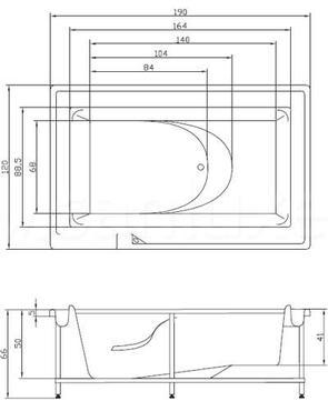 Ванна акриловая Акватика ГИДРА 190x120