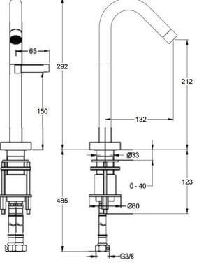 Смеситель для раковины Jacob Delafon Stillness E985-4-CP