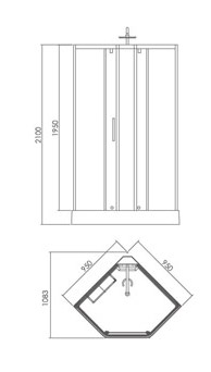 Душевое ограждение APPOLLO TS-6032
