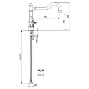 Смеситель для кухни Ideal Standard Reflections хром B9660AA