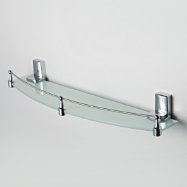 Полка стеклянная с бортиком Wasser Kraft  К-5024