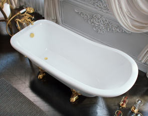 Ванна из литьевого мрамора ЭСТЕТ Царская 170х73