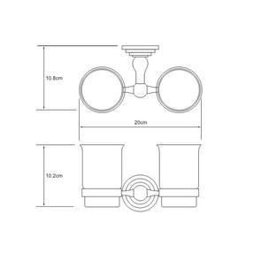Подстаканник двойной стеклянный Wasser Kraft К-7028D