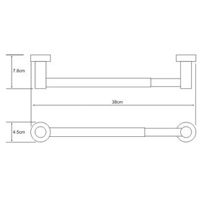 Держатель бумажных полотенец Wasser Kraft K-9422D, 32 cm