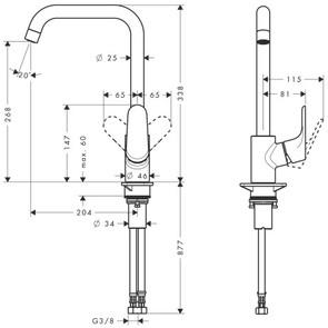Смеситель для кухни Hansgrohe Focus E2 31820800