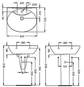 Раковина подвесная Ideal Standard OCEANE W306001