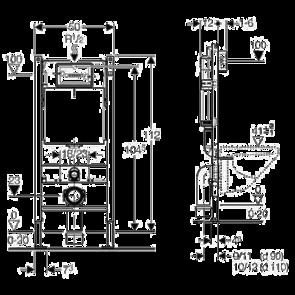 Инсталляция для унитаза Geberit Duofix Plattenbau комплект 458.122.21.1