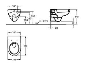 Унитаз подвесной Keramag Renova Nr.1 Rimfree F203050000 безободковый