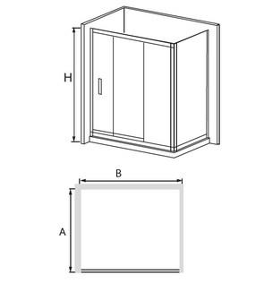 Душевая дверь RGW CL-11 прозрачное стекло