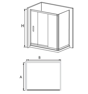 Душевая дверь RGW CL-11 стекло шиншилла