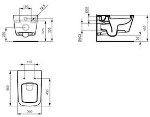 Унитаз подвесной Ideal Standard SIMPLY U J452101