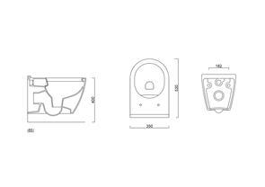 Унитаз подвесной безободковый Berges Wasserhaus TOMA Rimless 53см с сиденьем микролифт