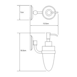 Дозатор для жидкого мыла 160 мл Wasser Kraft K-6299