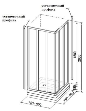 Душевой уголок Ravak SUPERNOVA ASRV3