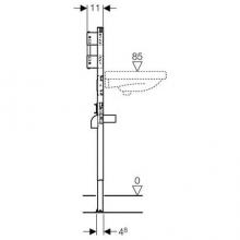 Инсталляция для подвесного умывальника со встроенным в стену смесителем Geberit Duofix 111.493.00.1